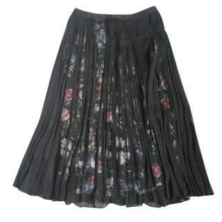 McQ Silk Floral Skirt