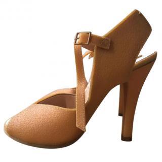 Maison Margiela Heeled Textured Rubber Sandals