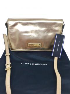 Tommy Hilfiger rose gold leather shoulder bag