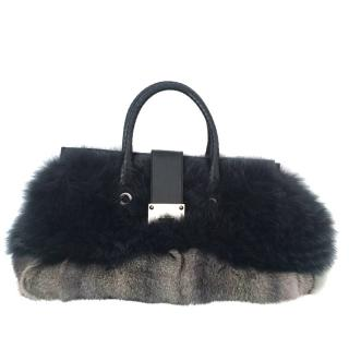 Jimmy Choo Riley Fox/Rabbit Top Bag