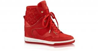 Louis Vuitton Cliff Top Sneaker in Red