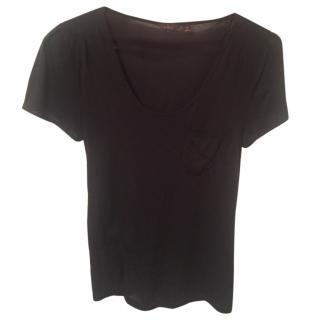 Mulberry black padded shoulder top