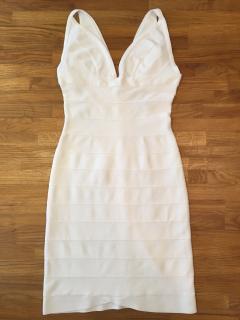 Herve Leger White bandage mini dress