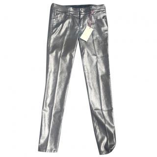Stella McCartney metallic stretchy jeans