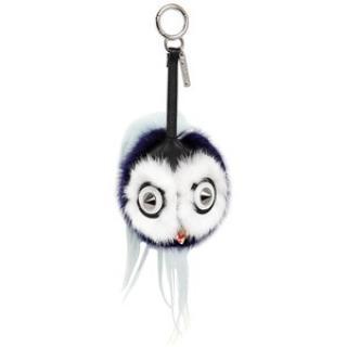 BNIB Fendi Sold Out Bird Mohawk Mink/Racoon/Calfskin Bag Charm RRP gbp
