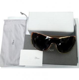 Christian Dior gold sunglasses