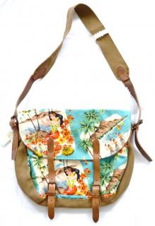 POLO Ralph Lauren floral canvas-leather cross-body bag