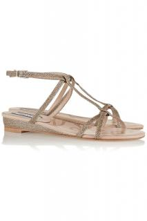 Lucy Choi Champagne glitter sandals