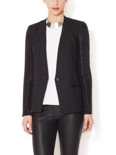 Helmut Lang Collarless Structured Blazer