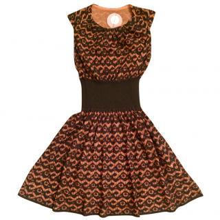 Alaia black and orange dress with tags
