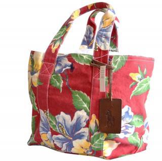 POLO Ralph Lauren floral canvas bag