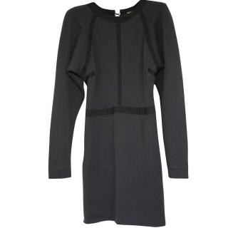 Bottega Veneta worn once wool mini-dress It 40 rrpgbp1,250