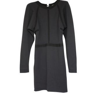 Bottega Veneta worn once wool mini-dress It 40 rrpgbp1,250