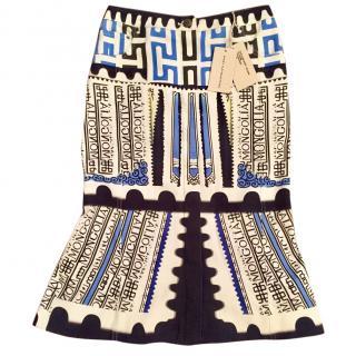 Mary Katrantzou Denim Flute Skirt