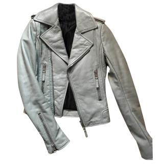 Balenciaga leather moto biker jacket FR 34