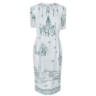 DOLCE AND GABBANA Garden Sketch Dress