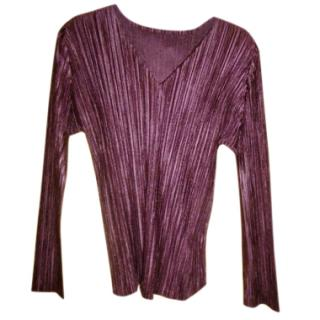 Issey Miyake Pleats Please Long Sleeved Top