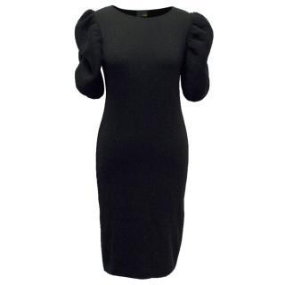 Fendi Black Bubble Sleeve Dress
