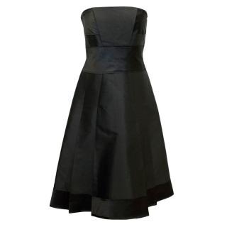 Amanda Wakeley Black Corsage Middle-Length Dress