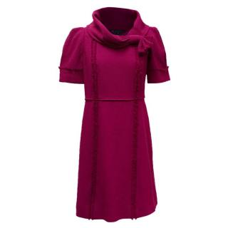 Marc by Marc Jacobs Purple Wrap Collar Dress