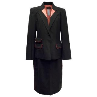 Bazar By Christian Lacroix Black Blazer And Skirt Suit
