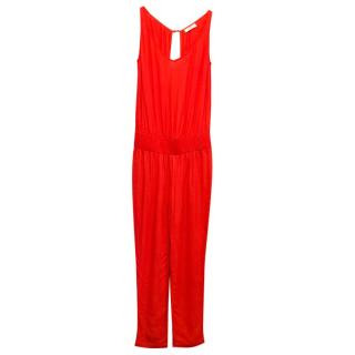 Ba&sh Red V-Cut Jumpsuit