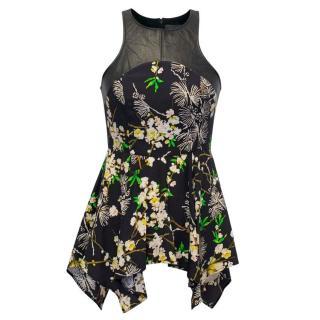PJK by Patterson J. Kincaid Black & Floral Patterned Blouse