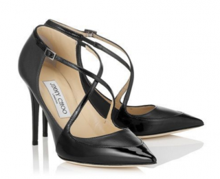 Jimmy Choo Mallow Black Nappa & Patent Shoes