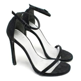 Stuart Weitzman Black Heeled Sandals