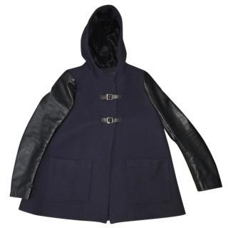 Maje hoody flare coat