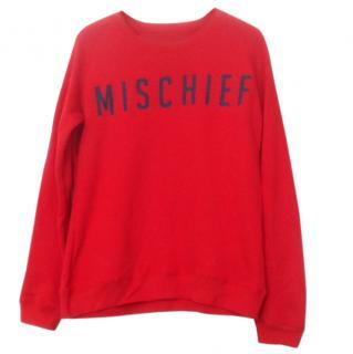 Zoe Karssen Red ' Mischief' Terry Sweatshirt