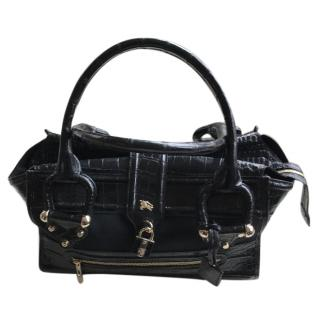 Burberry black Crocodile handbag