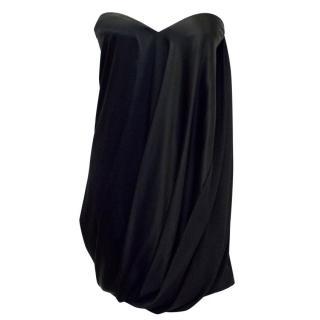 Jasmine Di Milo Black Silk Sweetheart Cut Strapless Dress