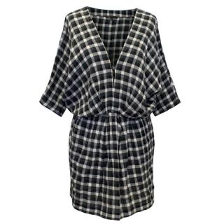 Maje Black and White Check Tunic