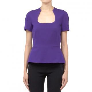 Alexander McQueen purple wool top