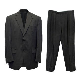 Lauren by Ralph Lauren Grey Pinstripe Two Piece Suit