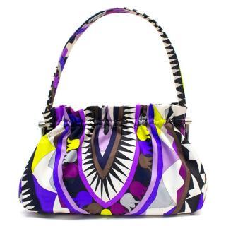 Pucci Multi-Colored Geometric Patterned Handbag