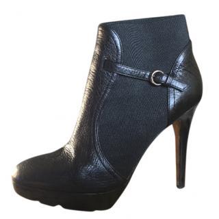 Walter Steiger Black Heeled Ankle Boots