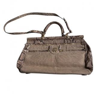 Roberto Cavalli Snakeskin Handbag