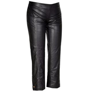 Elizabeth Franchi Faux leather leggins with zips