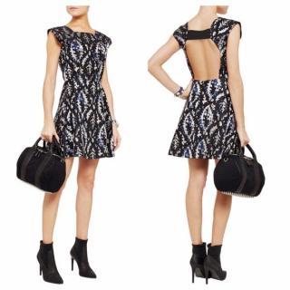 Theyskens' Theory silk-satin  jacquard dress