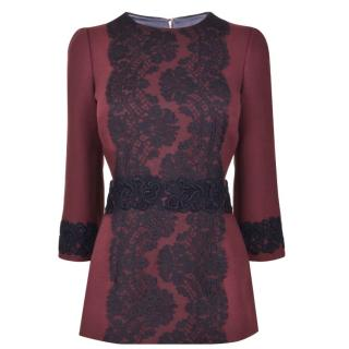 DOLCE AND GABBANA Lace Panel Top