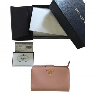 Prada Saffiano Orchid Pink Wallet
