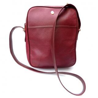 Must de Cartier Vintage Burgundy Leather Unisex Shoulder Bag