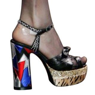 Saint Laurent Candy Bow Platform Sandal