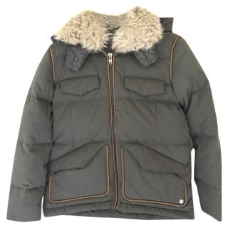 The Kooples Padded Parka Jacket with Detachable Hood