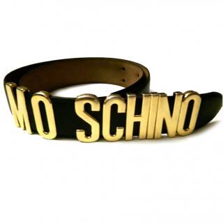 Moschino lettered womens belt