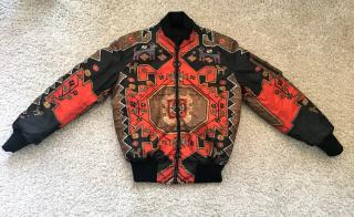 Givenchy Persian Print Bomber Jacket