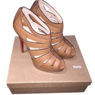Christian Louboutin Tan Leather Heeled Sandals