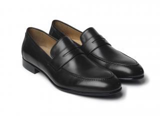 Fairfax & Favor Men's Black Leather Loafers